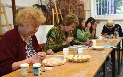 Ceramics Workshop with Laurence Curtis and Ann Atkins at Holyhead Studios 3rd September 2017